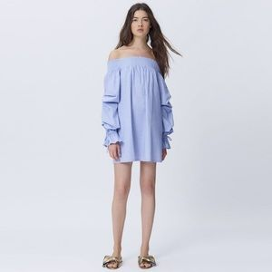 Rebecca Minkoff Nicola Smocked Off Shoulder Dress